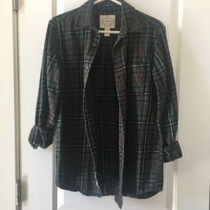 Brandy Melville Tops - Green Plaid Flannel